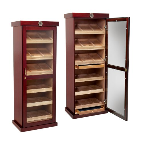 Prestige Import Group 2000 Count Cigar Cabinet Humidor Cabinet Humidor