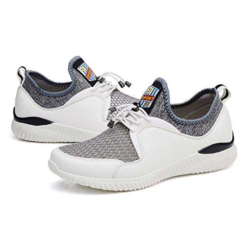 ZXCV Zapatos al aire libre Zapatillas de deporte de los hombres respirables cómodos de los zapatos ocasionales de los hombres Blanco
