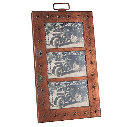 "Foreside Home & Garden FFRD01299 Triple 4"" x 6"" Aviator Picture Frame from Foreside Home and Garden"