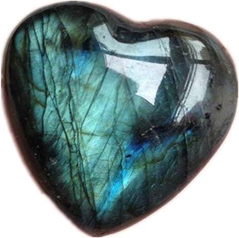 Natural Labradorite Heart Pendant.