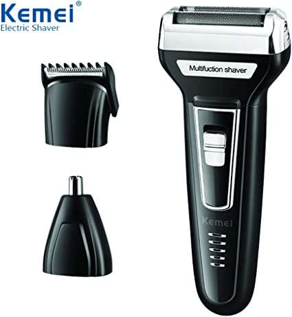 OUYAWEI Men 3 in 1 Multifunction Hair Trimmer Afeitadora eléctrica ...