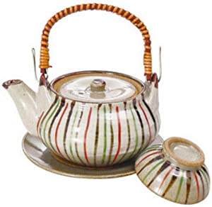 JapanBargain 4631, Japanese Dobin Mushi Soup Pot Soup Teapot Cooking Pot Set Made in Japan, Tokusa Style, 10.8 ounce