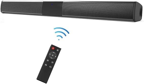 Docooler Barra de Sonido para televisores, Inalámbrico TWS reproducción de Canal Izquierdo y Derecho BT 5.0 Altavoz SoundBar TV de Cine en casa 3D de Bass televisor,Subwoofer con convertidor Digital: Amazon.es: Electrónica