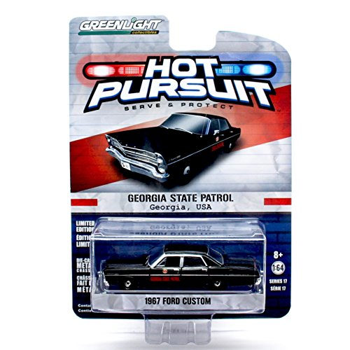 GEORGIA STATE PATROL / 1967 FORD CUSTOM * Hot Pursuit Series 17 * 2016 Greenlight Collectibles Limited Edition 1:64 Scale Die-Cast Vehicle