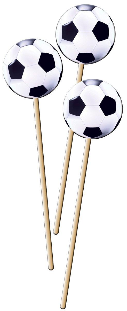 Fussball-Stadion 8 Pickser mit Sticker f/ür Party und Geburtstag //// Kinder Geburtstag Party Fete Set Jungen Fussball Soccer