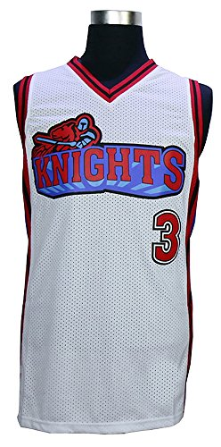 Like Mike Movie Knights #3 Calvin Cambridge Basketball Jersey Embroidered and Stitched white/red S to XXXL
