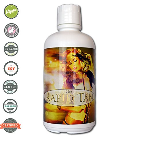 Rapid Tan Bronze Sunless Airbrush Spray Tanning Solution 32oz