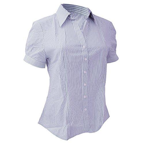 Brook Travener- Blusa Pescara de manga corta para mujer Azul/Blanco a rayas