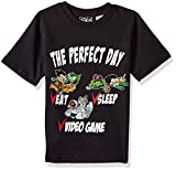 Warner Bros. Little Boys' Teen Titans The Perfect Day T-Shirt, Black, 5/6