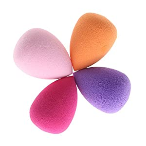 4 Color (Ramdon color ) Mini Droplet Shape Makeup Cosmetic Puff Set Foundation Base BB Cream Blender Concealer Blusher Flawless Mixed Beauty Kit
