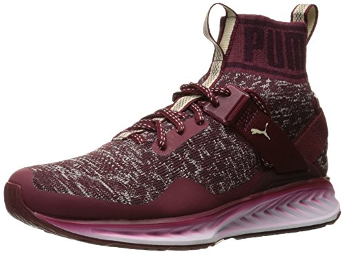 Puma Mens Ignite Evoknit Fade Cross Trainer Shoe  Cabernet Winetasting Oatmeal  8 5 M Us