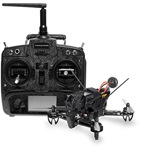 MightySkins Skin for Swagtron SwagDrone 210-UP - Black Leather | Protective, Durable, and Unique Vinyl Decal wrap Cover | Easy to Apply, Remove, and Change Styles | Made in The USA