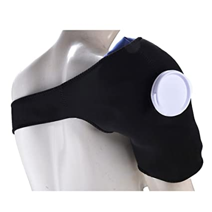 Pawaca Hombro Soporte Bolsa de hielo Terapia Set Ajustable Deportes Hombro con Bolsa de hielo para Hombro Dolor de Muelle Lesiones Calientes Cuidado ...