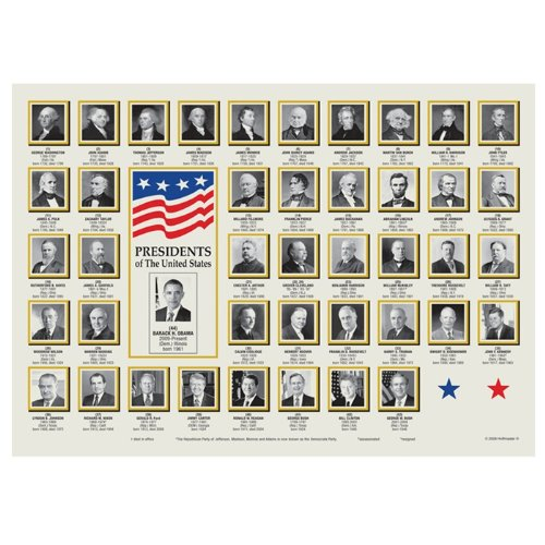 Hoffmaster 901-ECO66 Dollarwise Everyday President Placemat 10 x 14 inch, Printed on Recycled Paper - 1000 per case.
