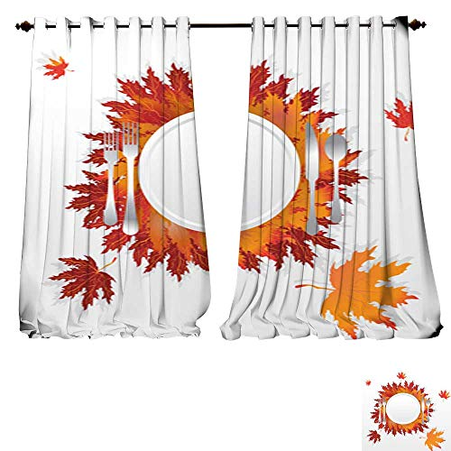 DESPKON-HOME Drapes for Living Room Happy Halloween Cats in Monsters Costumes Halloween Party Vector Illustration Banner Elements set1 Tie Up Printed Blackout Curtain -W108 x L84/Pair ()
