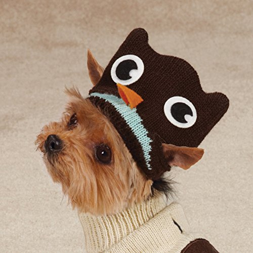 Zack & Zoey Piggy Back Pals Sweater and Hat Set for Dogs, 12'' Small, Owl by Zack & Zoey (Image #2)
