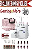 Juki MO-1000 Serger, Push Button Jet Air Looper Threader w/ Exclusive Platinum Series Bonus Package!