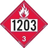 Labelmaster Z-IDG UN 1203 Flammable Liquid Hazmat