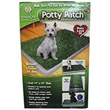 Potty Patch - Economical Dog Litter Box and Grass Patch that Will Train Your Puppy and Keep Home Clean, Small - for Pets Under 15 lbs