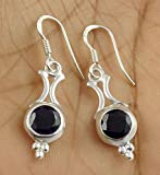 Natural Iolite 6mm Round Shape Normal Cut Gemstone 925 Sterling Silver Earring,cut Stone Handmade Earring