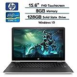 Newest HP Pavilion 15.6''' Touchscreen 2-in-1 FHD Laptop PC, 7th Gen Intel i5-7200U Processor, 8GB DDR4 SDRAM, 128GB SSD, B&O PLAY, 802.11ac, Bluetooth, HDMI, Stylus, Windows 10