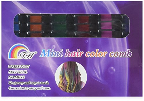 Temporary Bright Hair Chalk Set - Ovinm Non-Toxic Metallic Glitter for All Hair Colors- Built in Sealant, 6 Colors -