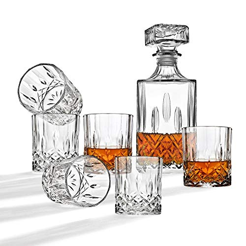 Whiskey Glass bottle Wine Decanter Tequila Decanter Bourbon Decanter Liquor Decanter Diamond 7pc Decanter sets