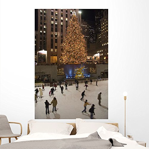 (Rockefeller Center Famous Christmas Wall Mural by Wallmonkeys Peel and Stick Graphic (72 in H x 48 in W) WM242013)
