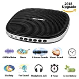 #9: Three sheep White Noise Machine, Baby Sleep Sound Machine with 20 Soothing Sounds, Sleep Timer, Headphone Jack, Rechargeable and USB Socket for Adult and Children at Home, Office and Travel