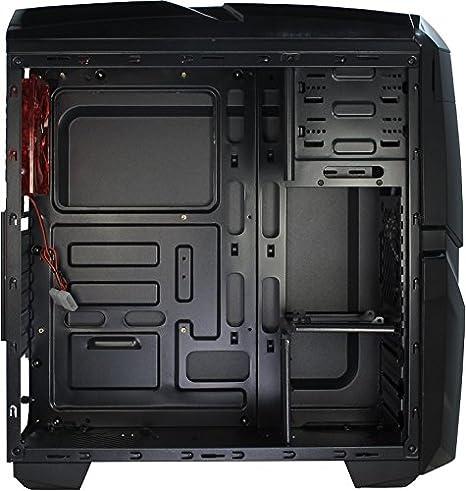 Inter Tech Q2 Illuminator Red 1x Usb 2 0 2x Usb 3 0 Computers Accessories