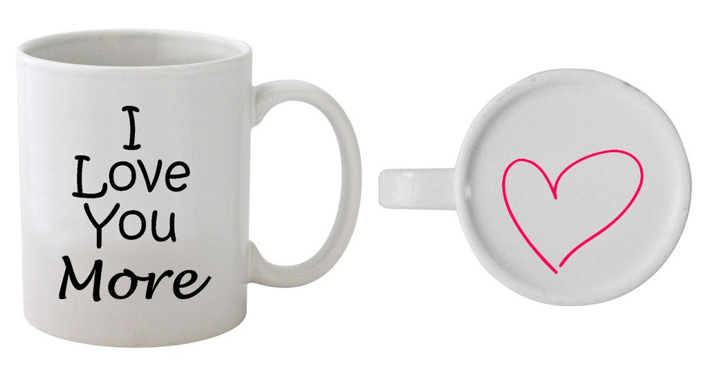 Funny Guy Mugs I Love You More Ceramic Coffee Mug, White, 11-Ounce