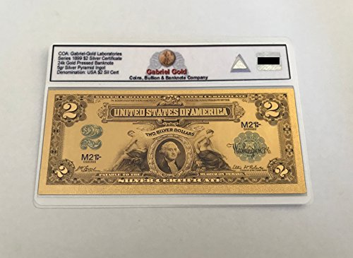 1899 $2 Gold Certificate Banknote