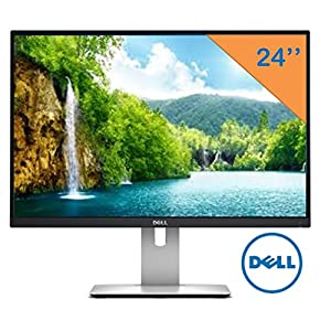 "Dell 24"" UltraSharp Widescreen LED-Backlit 1920x1200 Resolution Monitor, 16:10 Aspect Ratio, 6ms Response Time, 178 Degree Vertical & horizontal viewing angles, HDMI, USB 3.0 ports"
