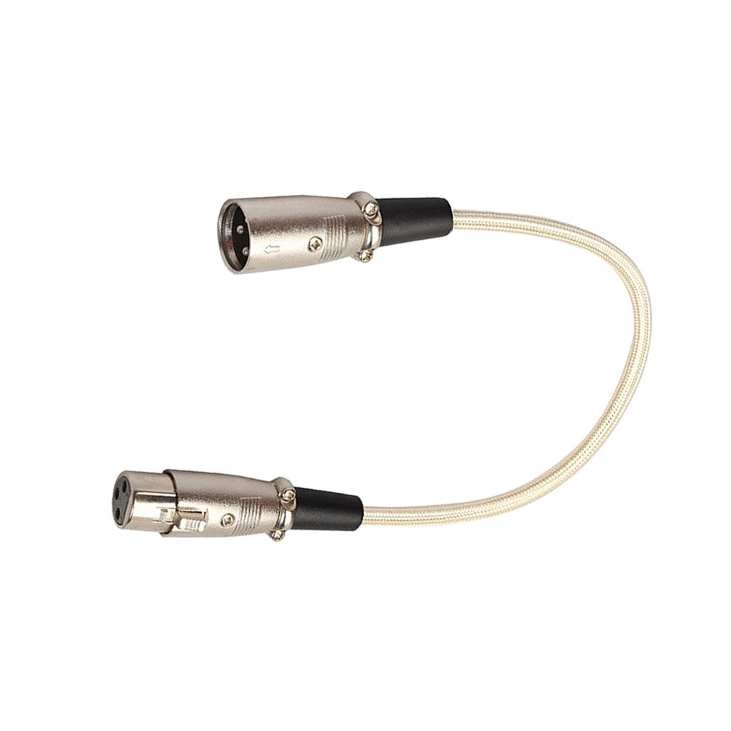 perfk 30cm XLR M/âle /À Cordon D/équilibre Femelle Cordon Dextension Audio Mic Pour Mixeur