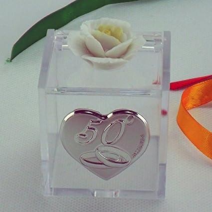 Anniversario Matrimonio Amazon.Bomboniere Scatoline Per 50 Anniversario Di Matrimonio Amazon It