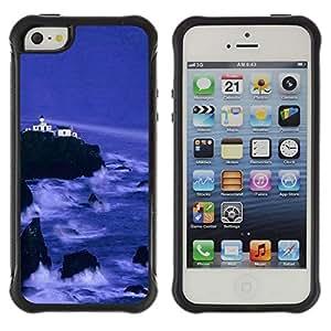 Suave TPU GEL Carcasa Funda Silicona Blando Estuche Caso de protección (para) Apple Iphone 5 / 5S / CECELL Phone case / / Nature Beautiful Forrest Green 143 /