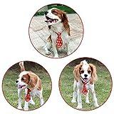 100pcs Christmas Pet Supplies Pet Dog Cat Xmas Neckties Bowties Santa Deer Pet Dog Grooming Accessories Small-Middle Dog Ties,Mix Colour