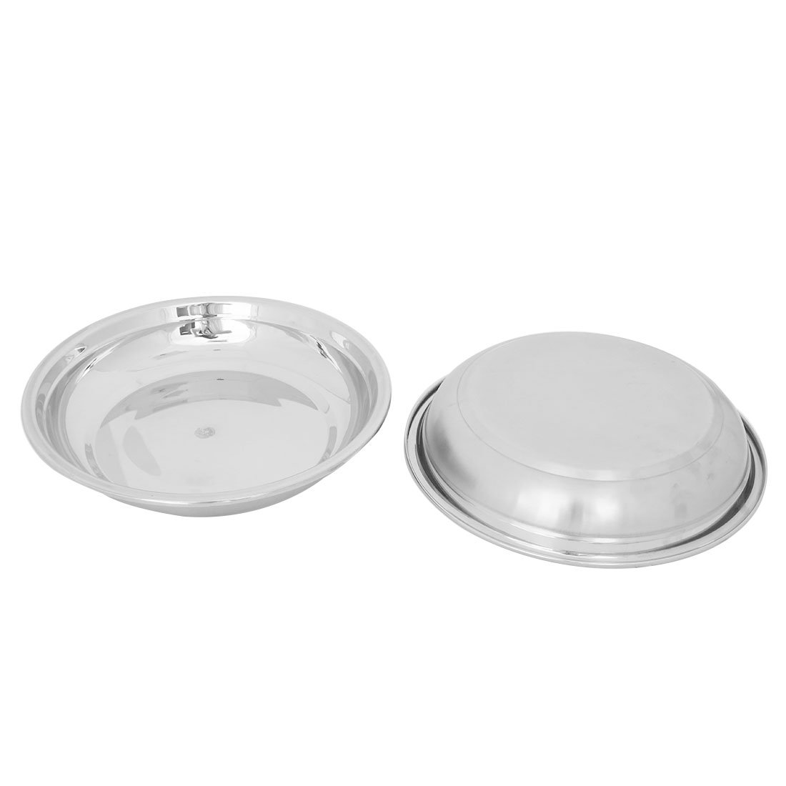 uxcell Stainless Steel Tableware Soup Food Fruit Rice Meal Dinner Container Mixing Bowl 2pcs
