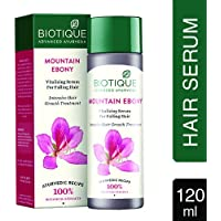 Biotique Bio Mountain Ebony Vitalizing Serum for Falling Hair Intensive Hair Growth Thinning, 120ml