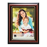 Kiera Grace Kylie Picture Frame, 5 by 7 Inch, Brown with Gold Lining