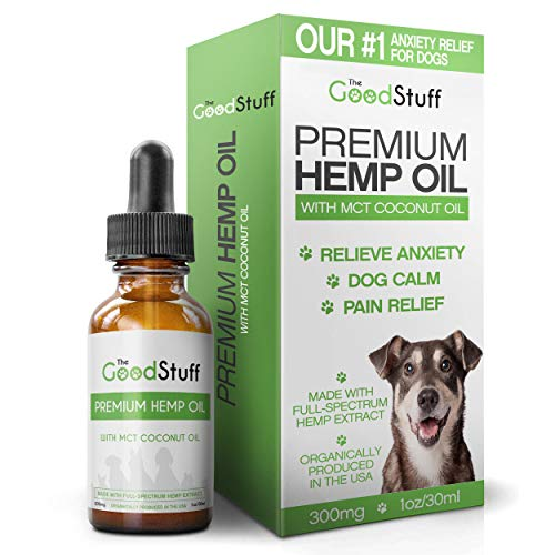 Full Spectrum Hemp Oil Dogs - 300mg / 30ml - Natural Organic Dog Calming Aid - Separation Anxiety Relief/Relieve Pain & Joint Inflammation in Canine Arthritis - Treats Seizures