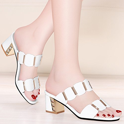 Mouth Shoes And High Sandals Heeled Jqdyl Platform Slippers Summer White High 2018 Waterproof Sandals Fashion New heels Fish afpBwq6