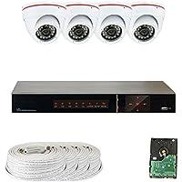 GW Security 4 Channel HD-SDI DVR 4 x 1/3 2.1MP 1080P 3.6mm Security Camera System 1TB HD