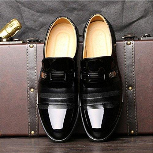 Gaorui Menns Kjole Sko Oxford Sko Blonder Opp Loafer Komfortabel Klassiske Moderne Formelle Forretnings Sko Svart