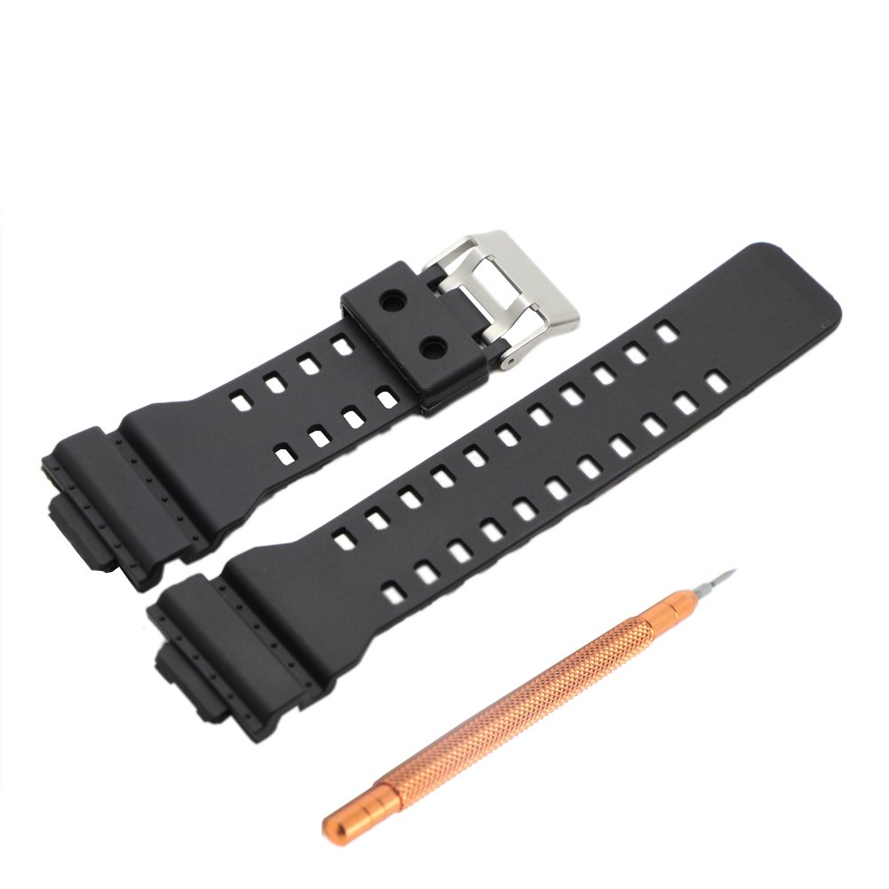 Ritche Watch Band for Casio 10347688 G-Shock G-8900, Ga-100, Ga-110, Ga-120, Ga-300, Gac100, Black