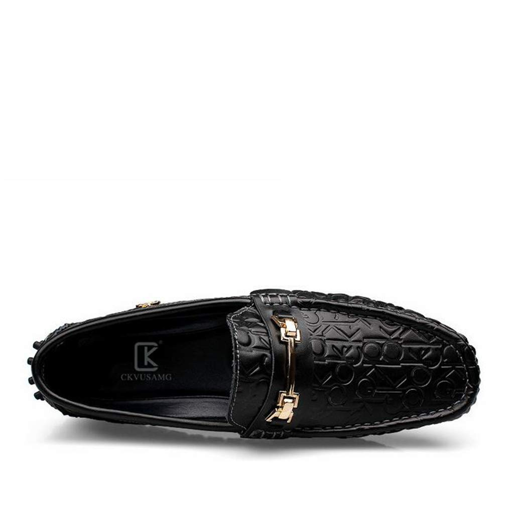 Hy Herrenschuhe, leichte leichte leichte Loafers & Slip-Ons, Spring Fall New Soft Sole Slip-Ons Driving schuhe,schwarz,40 81e96b