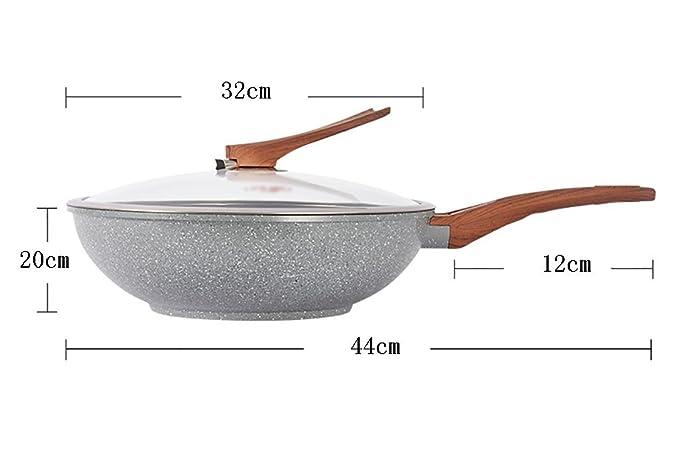 Fry Wok Cacerolas planas Pan antiadherente Menos Fumos de aceite ...