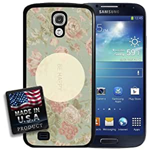 Be Happy Vintage Floral Pink Flowers Galaxy S4 Hard Case