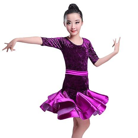 JTSYUXN Vestido De Baile Latino Niña Disfraz De Danza Nacional ...