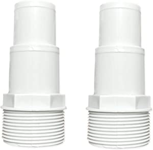 Daveyspa 1.25/1.5 Hose Adaptor for 0.5/1.0/1.5/2.0 hp,Pumps Hose 1 1 Adapter, White(2 Pcs)